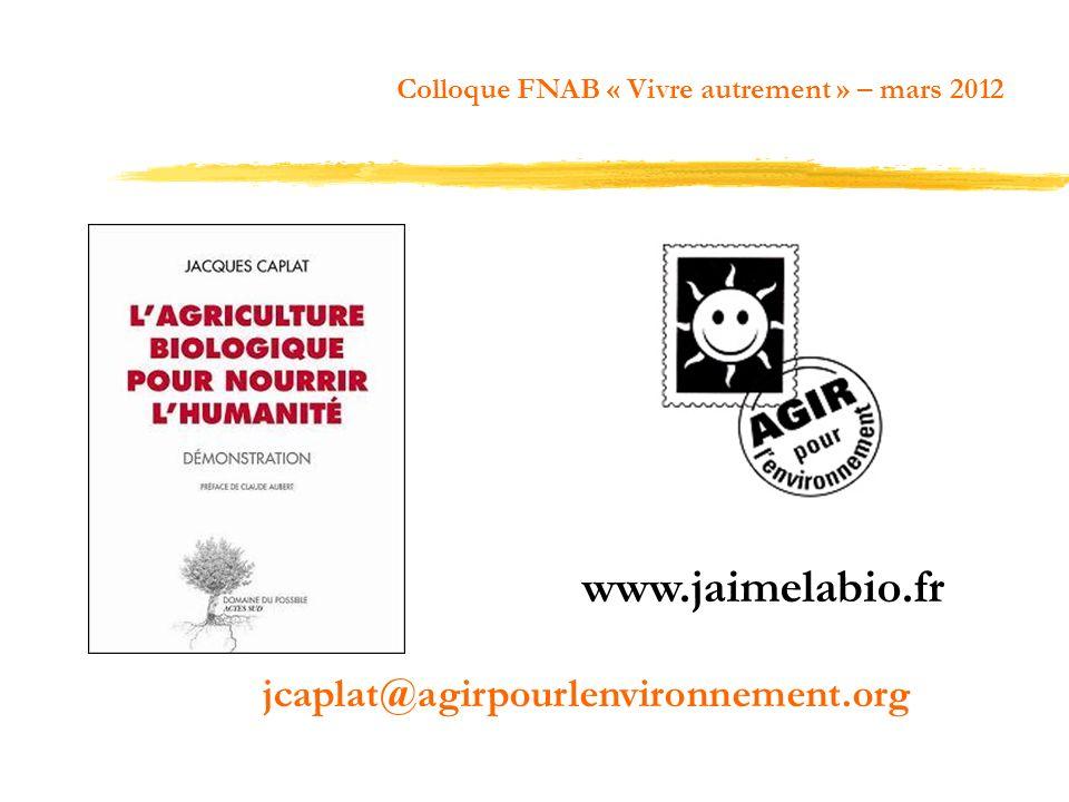 jcaplat@agirpourlenvironnement.org www.jaimelabio.fr