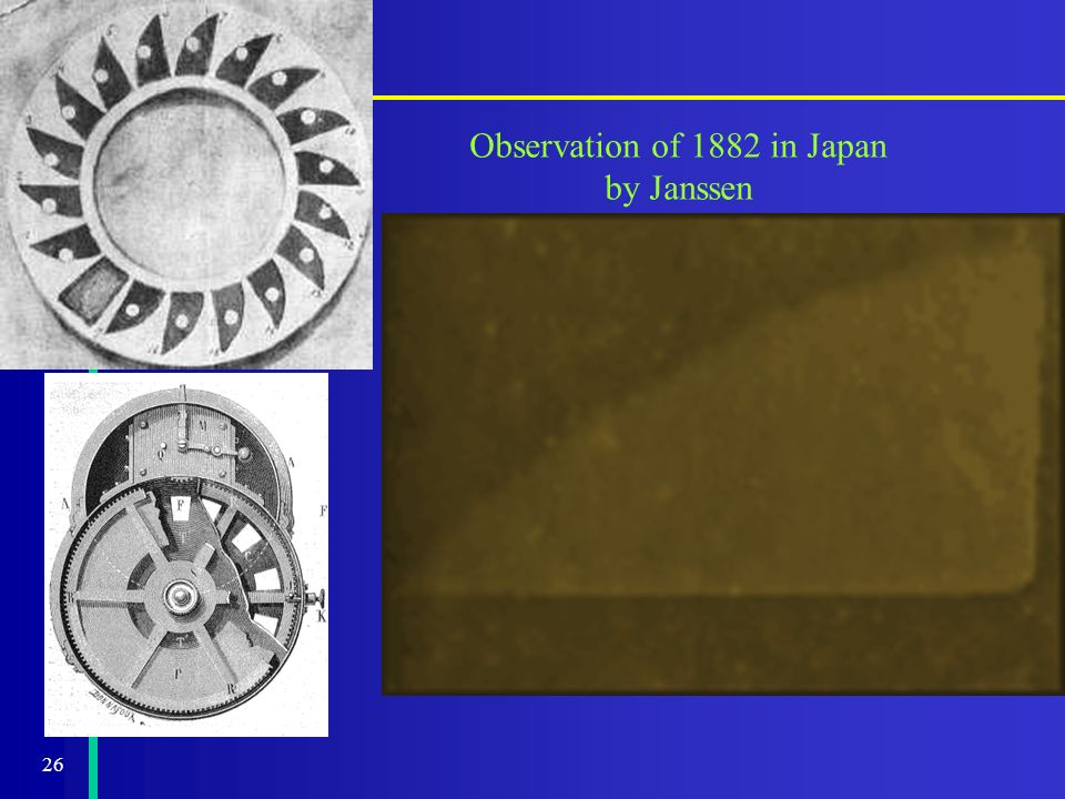 26 Observation of 1882 in Japan by Janssen