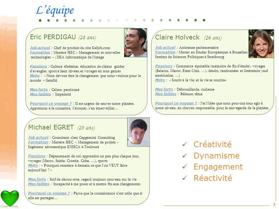 3 Eric PERDIGAU (28 ans) Job actuel : Chef de produit du site Keljob.com Formation : Mastère HEC « Management et nouvelles technologies » ; DEA inform