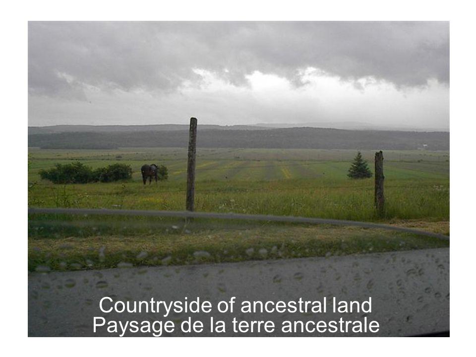 Paysage de la terre ancestrale Countryside of ancestral land