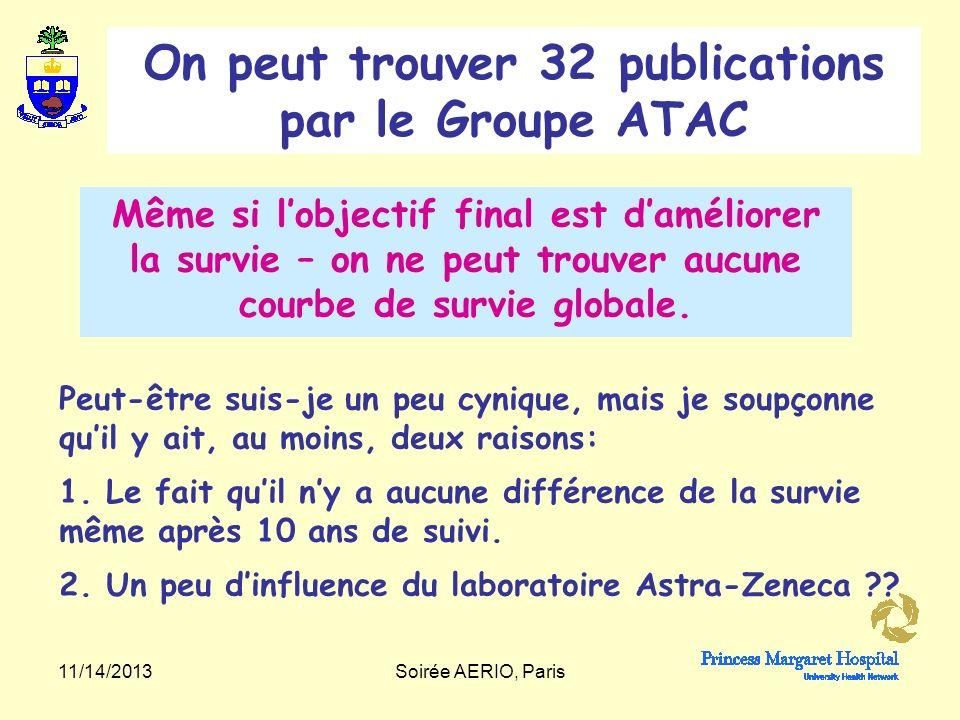 11/14/2013Soirée AERIO, Paris Lancet Oncol.Lancet Oncol. 2010 Dec;11(12):1135-41.