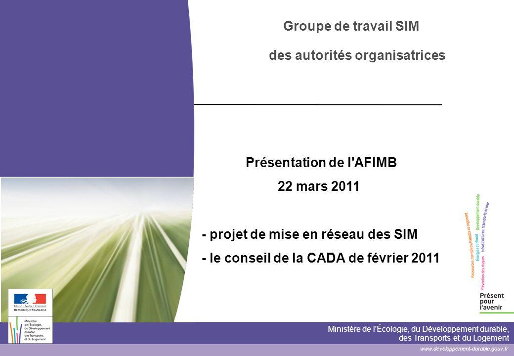 Le projet de mise en réseau des SIM Une note de présentation du programme soumise à discussion Le projet ainsi défini répond-il aux attentes du groupe de travail .