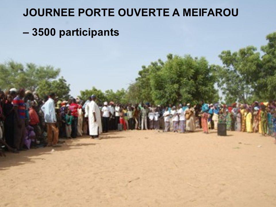 JOURNEE PORTE OUVERTE A MEIFAROU – 3500 participants