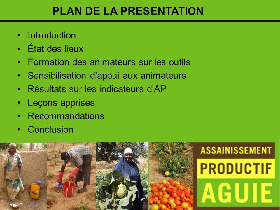 Introduction Après une année dactivités, le Projet dAssainissement Productif à Aguié est en sa phase de partage dexpérience à un niveau plus large.