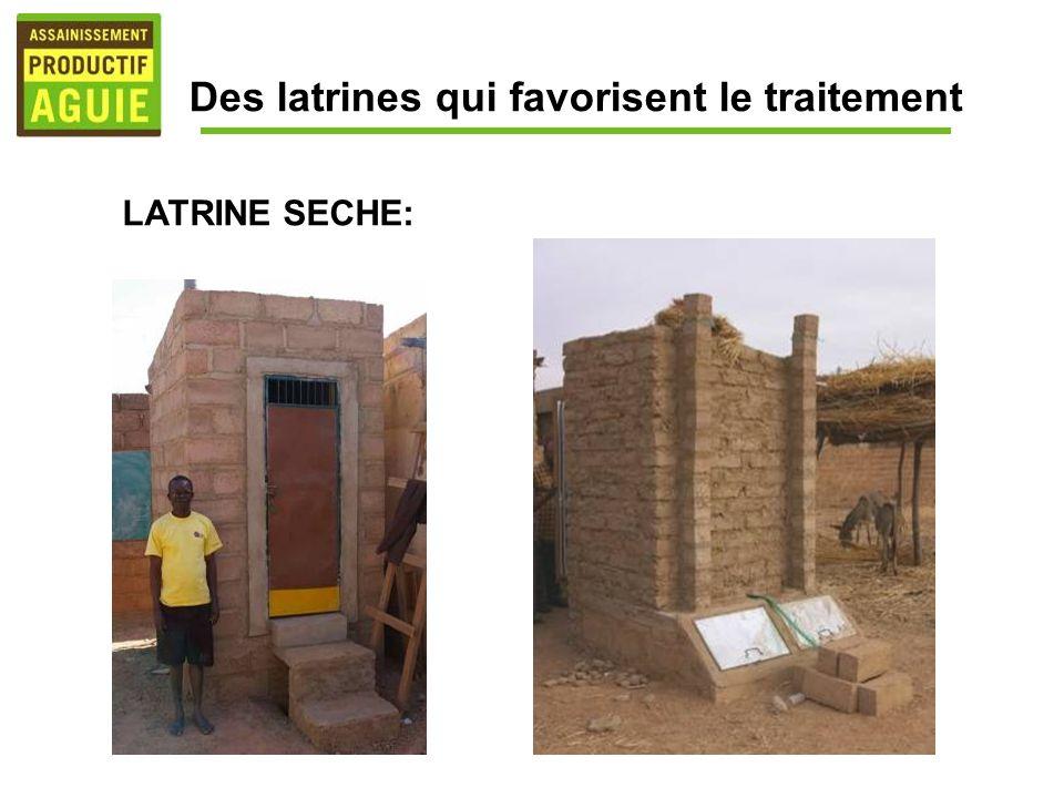 Des latrines qui favorisent le traitement LATRINE SECHE: