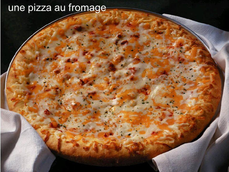 une pizza au fromage