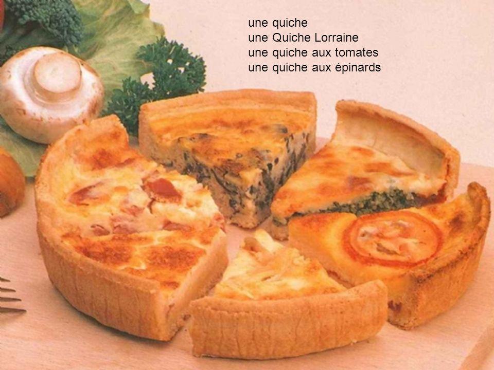 une quiche une Quiche Lorraine une quiche aux tomates une quiche aux épinards