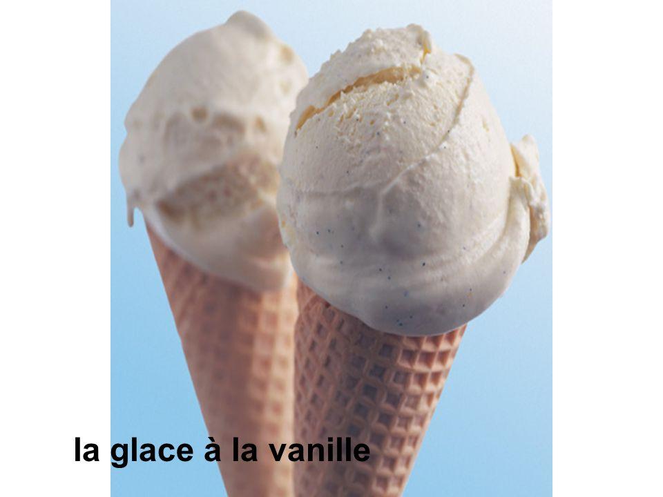 la glace à la vanille