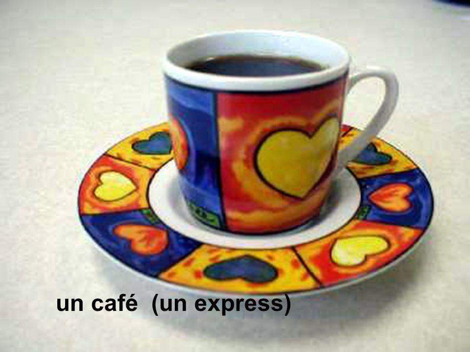 un café (un express)