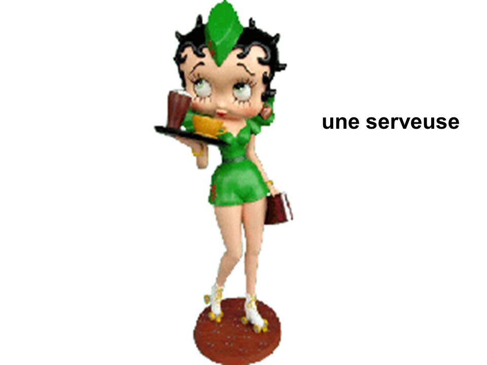 une serveuse