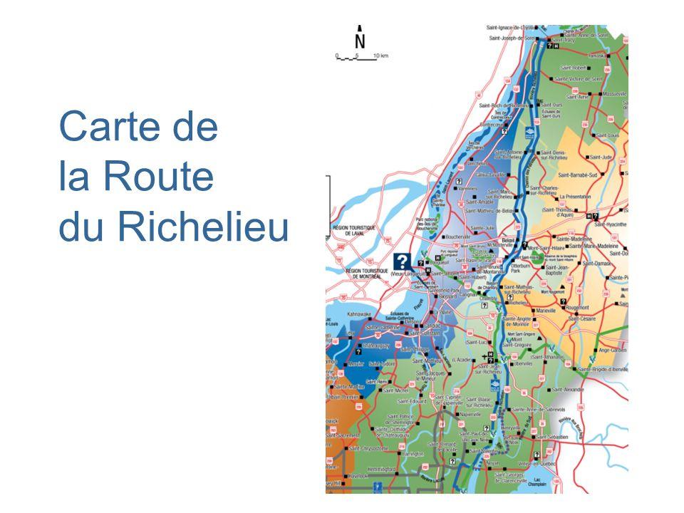 Carte de la Route du Richelieu