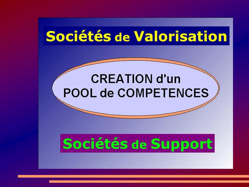 Sociétés de Valorisation Sociétés de Support