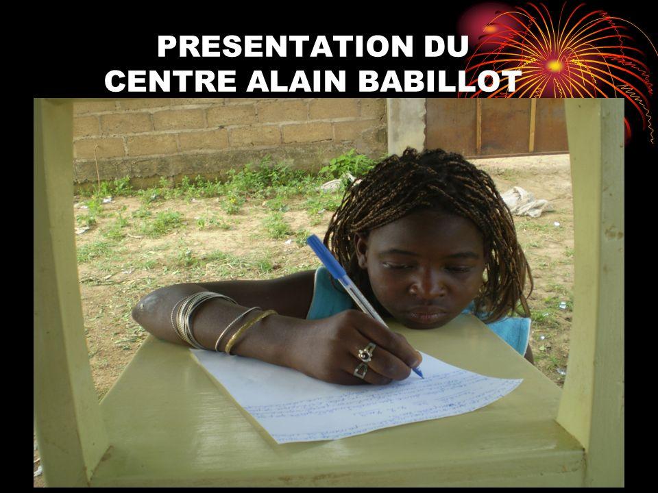 PRESENTATION DU CENTRE ALAIN BABILLOT