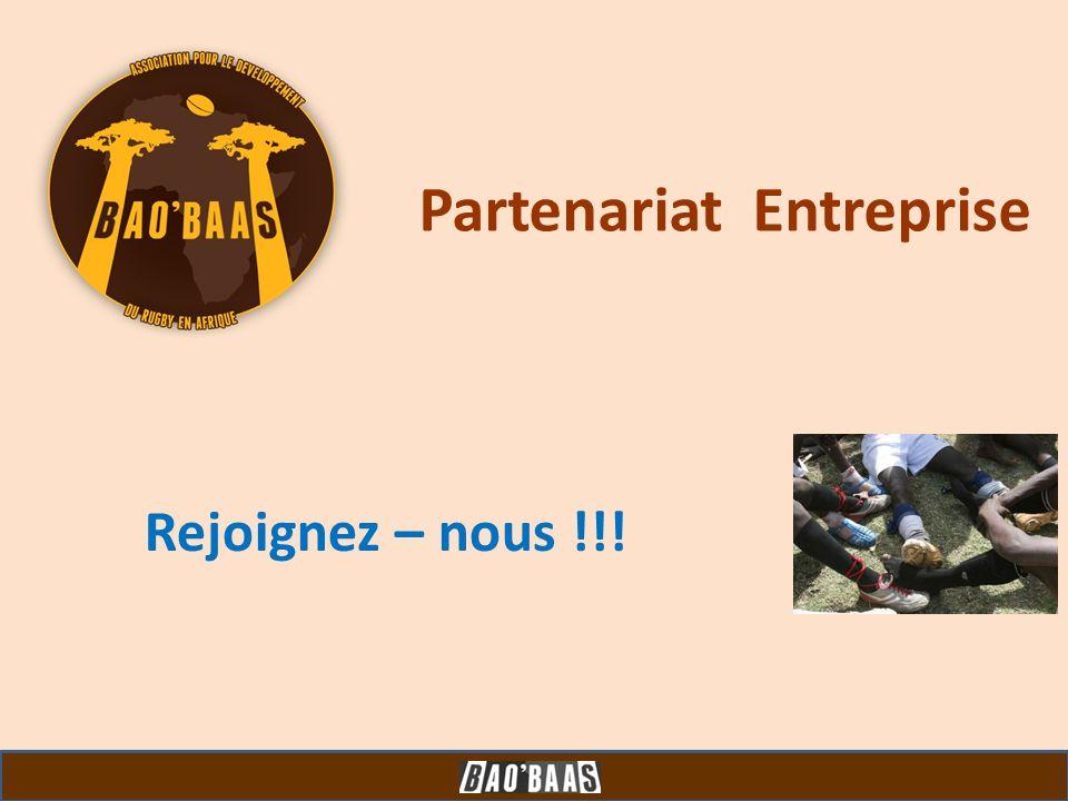 Partenariat Entreprise Rejoignez – nous !!!
