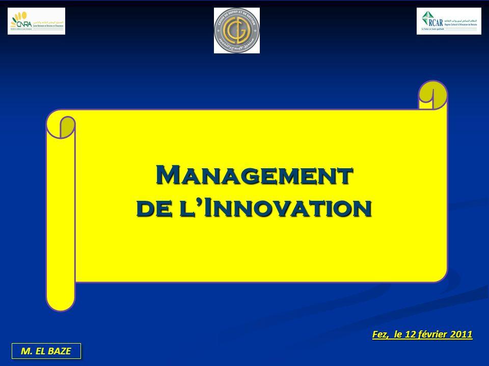 M. EL BAZE Management de lInnovation Fez, le 12 février 2011