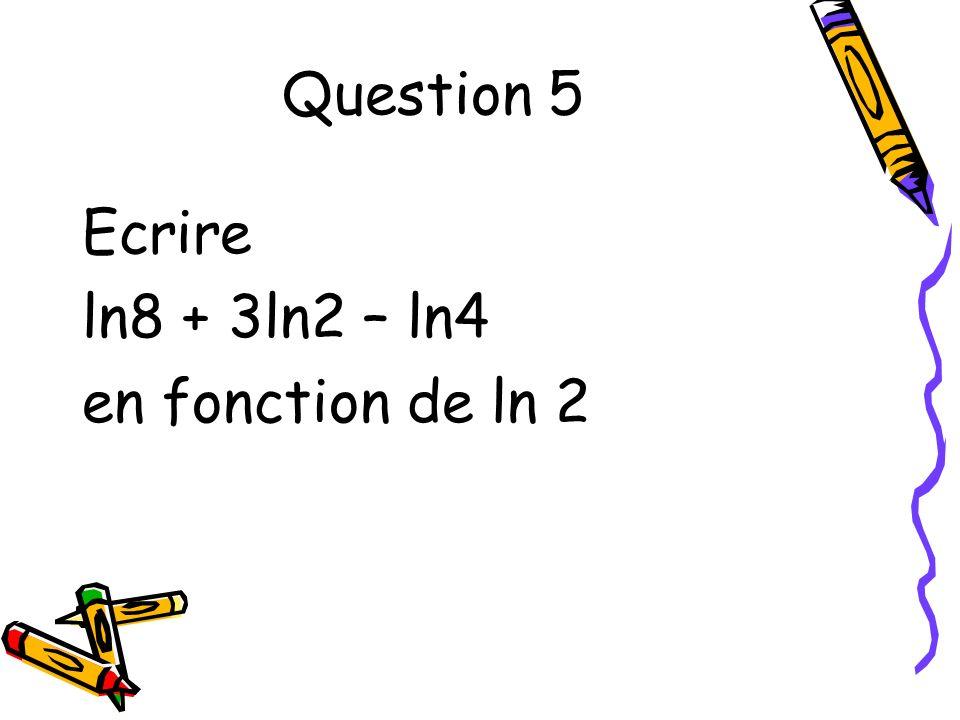 Question 6 f(x) = 3x² + 2ln(x) Calculer f (x)