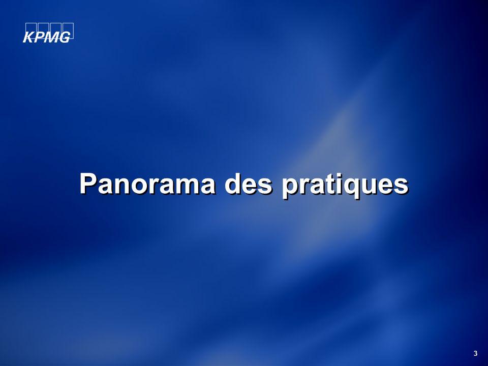 3 Panorama des pratiques