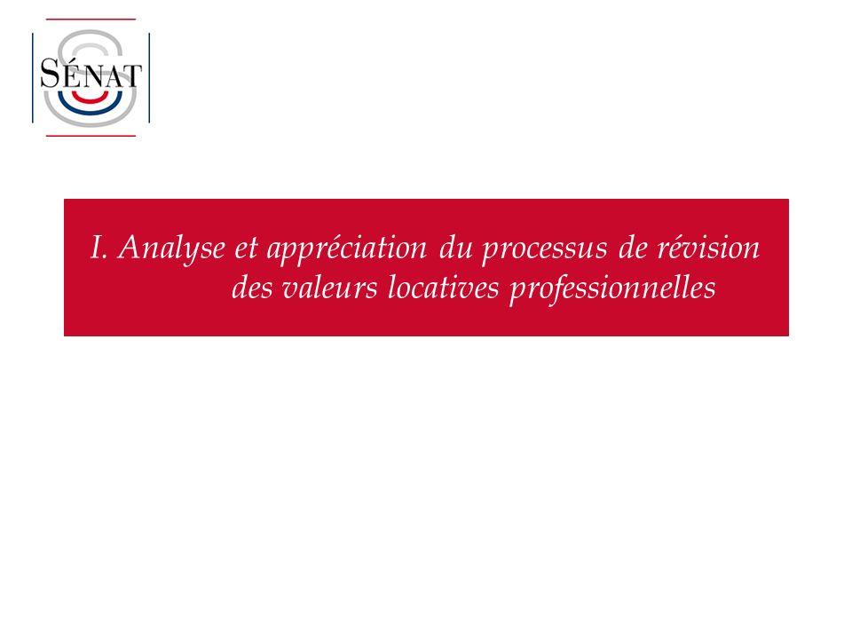 I. Analyse et appréciation du processus de révision des valeurs locatives professionnelles
