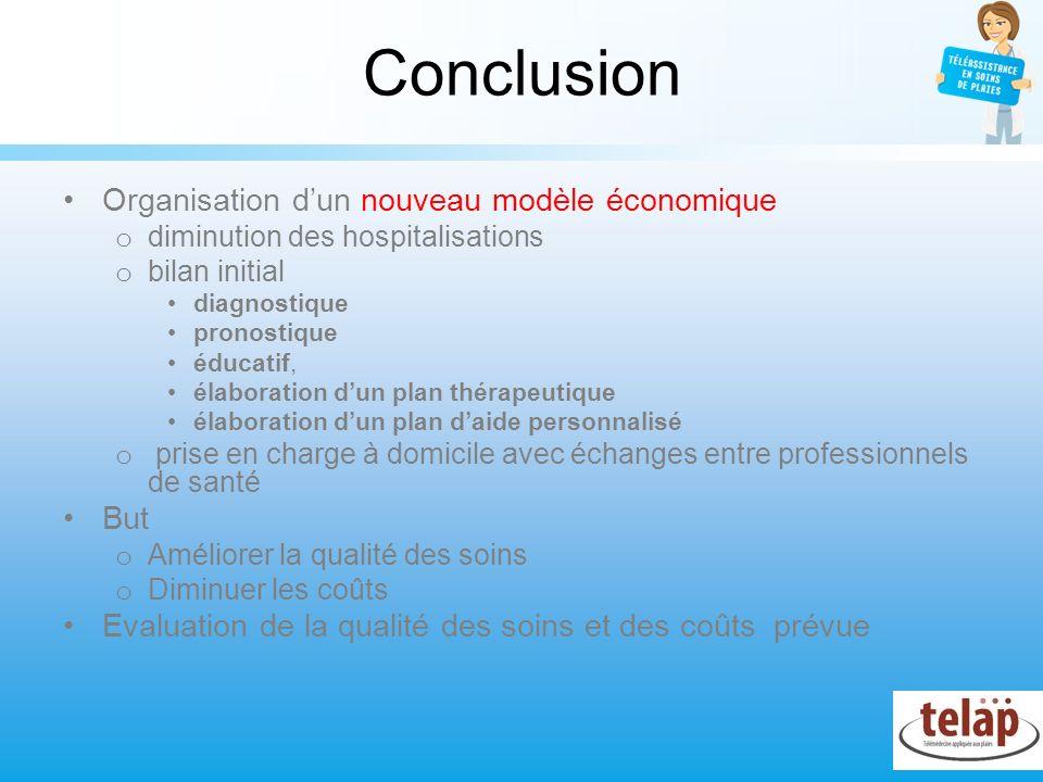 Conclusion Organisation dun nouveau modèle économique o diminution des hospitalisations o bilan initial diagnostique pronostique éducatif, élaboration
