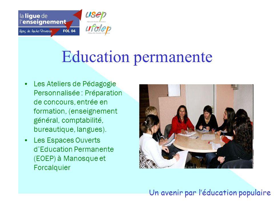 Education permanente Les Ateliers de Pédagogie Personnalisée : Préparation de concours, entrée en formation, (enseignement général, comptabilité, bure