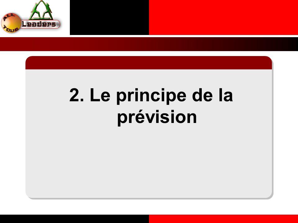 2. Le principe de la prévision LE PRINCIPE DE LA COHERENCE PERSONNELLE