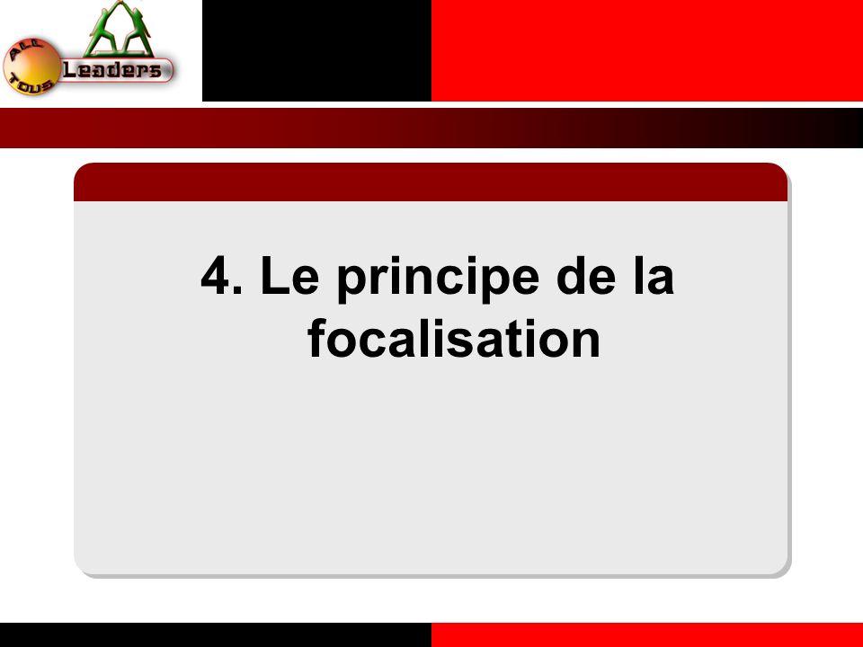 4. Le principe de la focalisation LE PRINCIPE DE LA COHERENCE PERSONNELLE