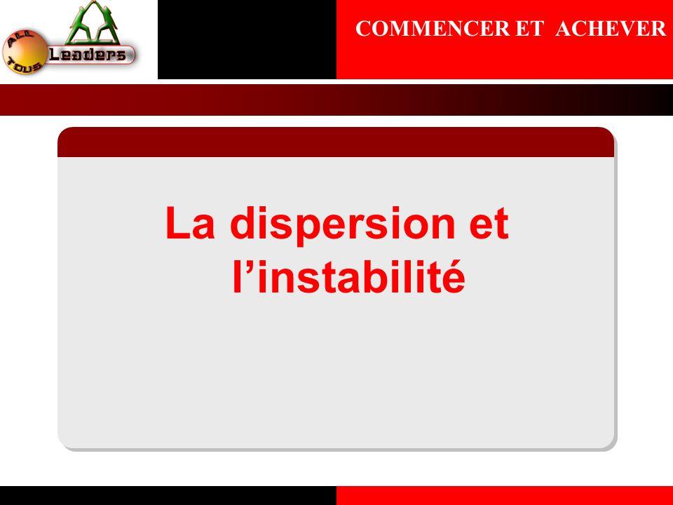 La dispersion et linstabilité COMMENCER ET ACHEVER