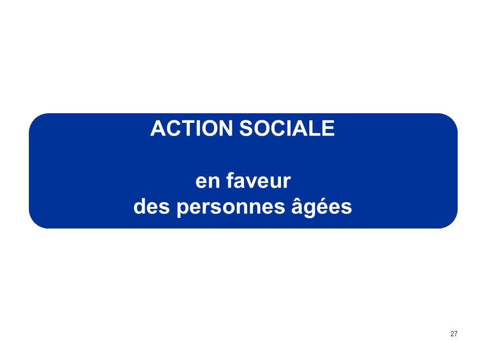 ACTION SOCIALE en faveur des personnes âgées 27