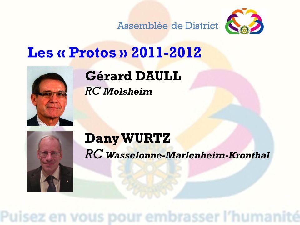 Gérard DAULL RC Molsheim Dany WURTZ RC Wasselonne-Marlenheim-Kronthal Assemblée de District Les « Protos » 2011-2012