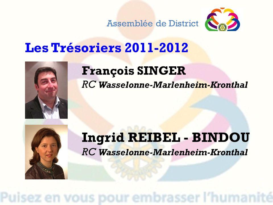 François SINGER RC Wasselonne-Marlenheim-Kronthal Ingrid REIBEL - BINDOU RC Wasselonne-Marlenheim-Kronthal Assemblée de District Les Trésoriers 2011-2