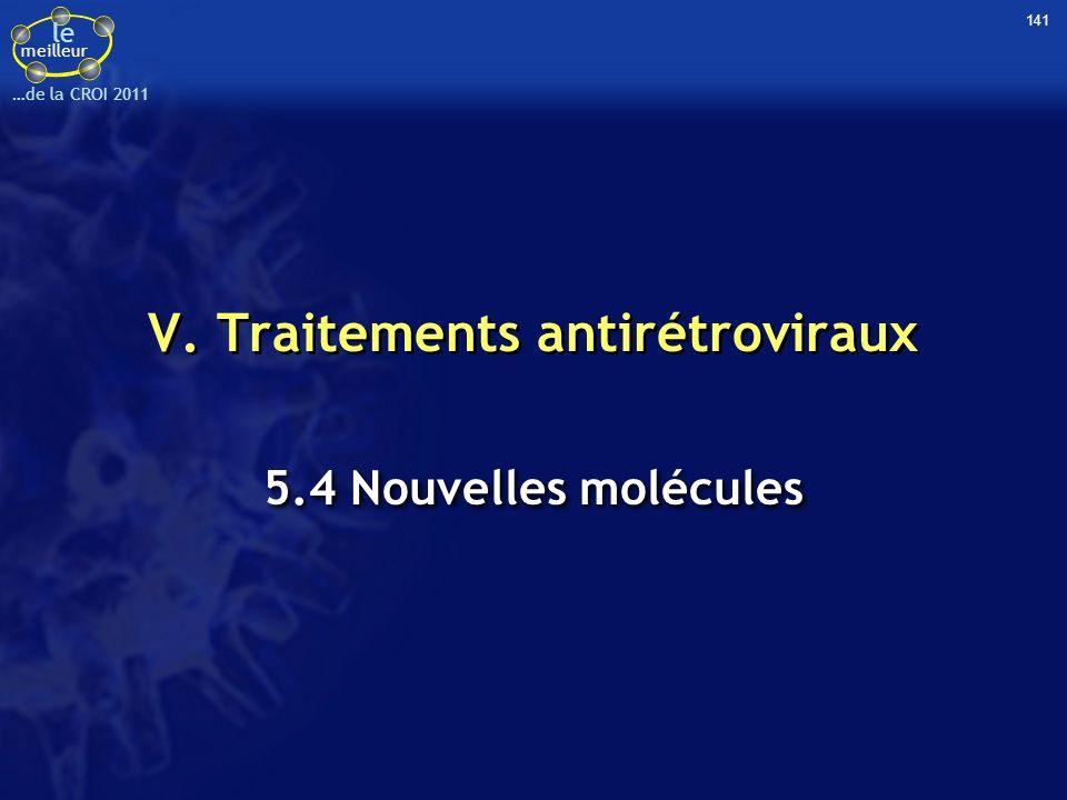 le meilleur …de la CROI 2011 V. Traitements antirétroviraux 5.4 Nouvelles molécules 141