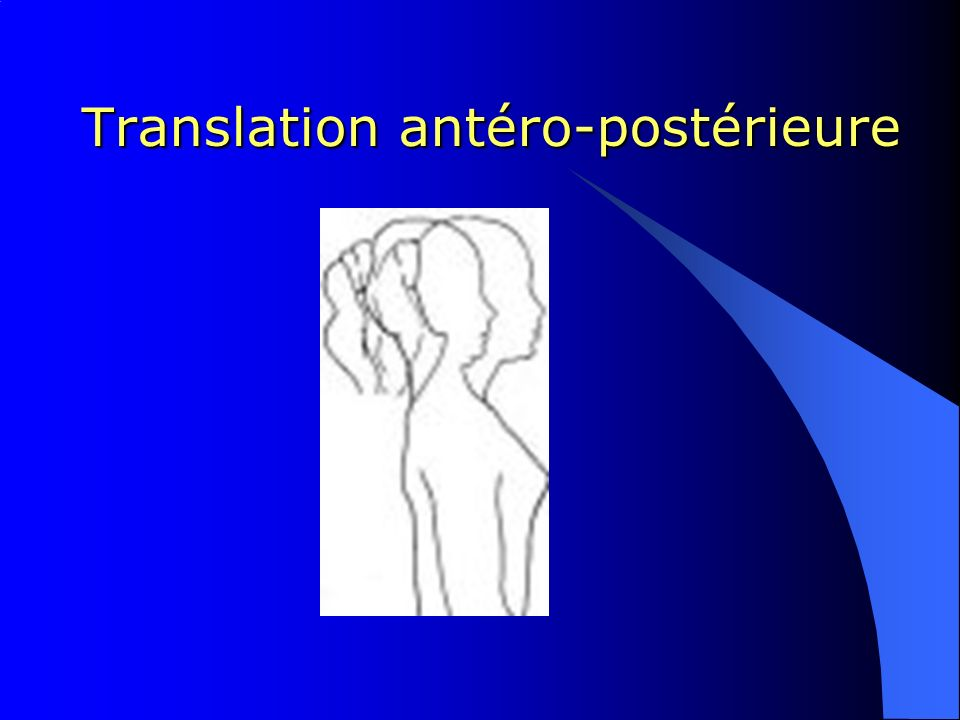 Translation antéro-postérieure