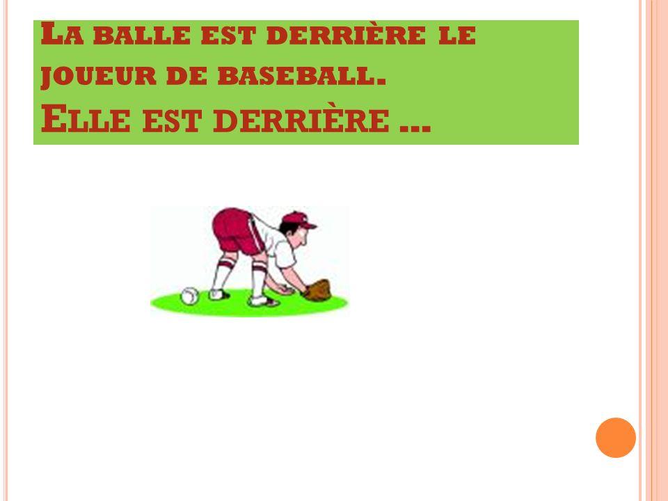 L A BALLE EST DERRI È RE LE JOUEUR DE BASEBALL. E LLE EST DERRI È RE …