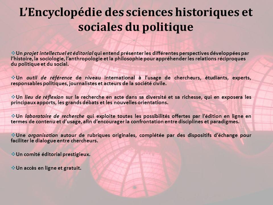 Un projet intellectuel et éditorial qui entend présenter les différentes perspectives développées par lhistoire, la sociologie, lanthropologie et la philosophie pour appréhender les relations réciproques du politique et du social.