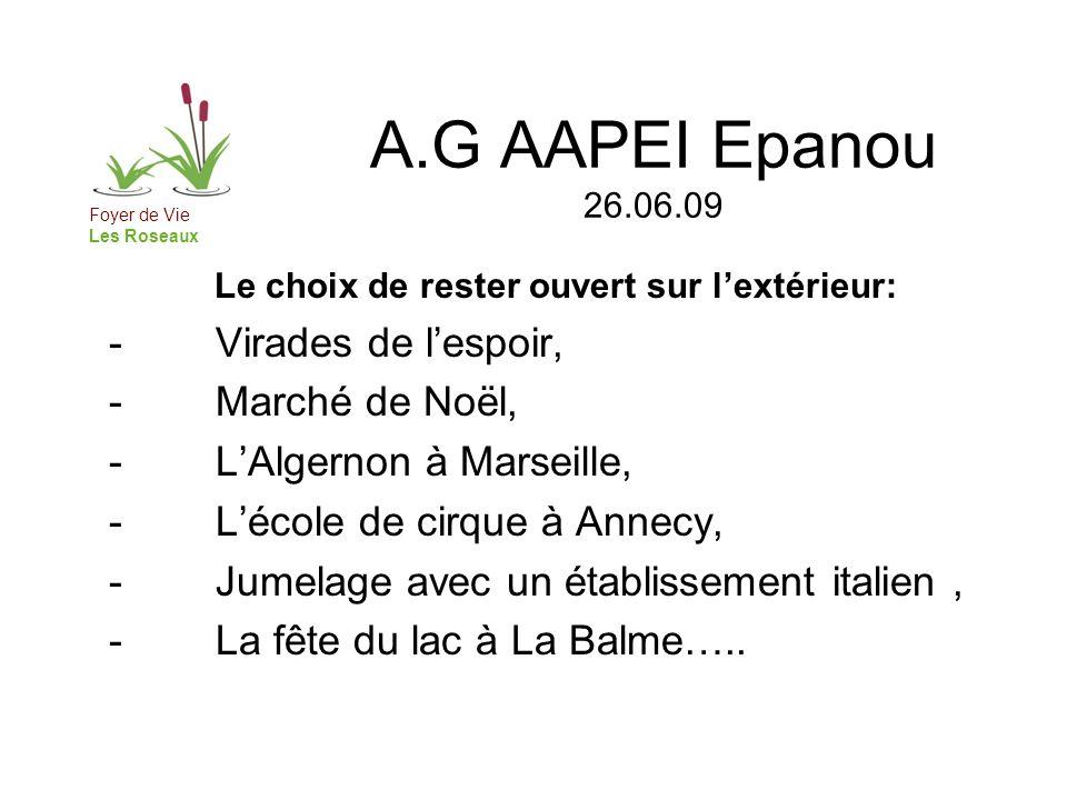 A.G AAPEI Epanou 26.06.09 Foyer de Vie Les Roseaux