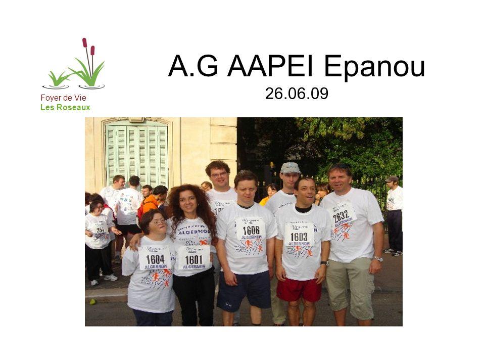 A.G AAPEI Epanou 26.06.09 Et toujours 3 rythmes dans lannée: - Les périodes dites « traditionnelles » : activités transversales les après-midis.