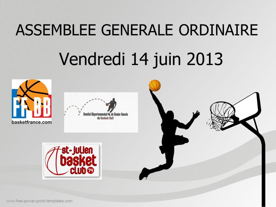 ASSEMBLEE GENERALE ORDINAIRE Vendredi 14 juin 2013