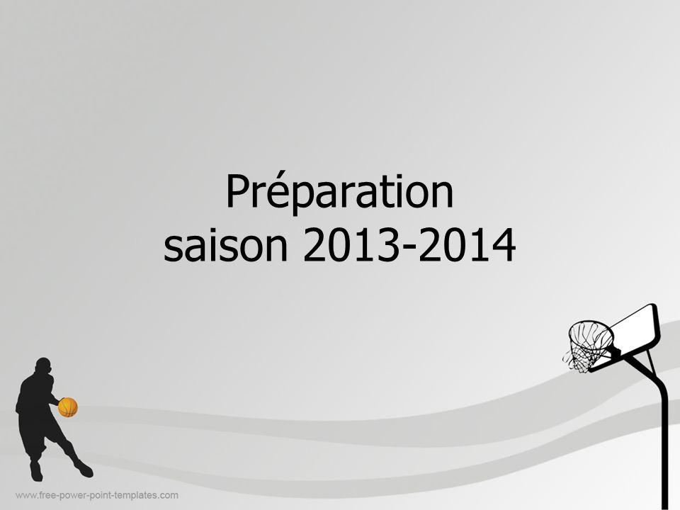 Préparation saison 2013-2014