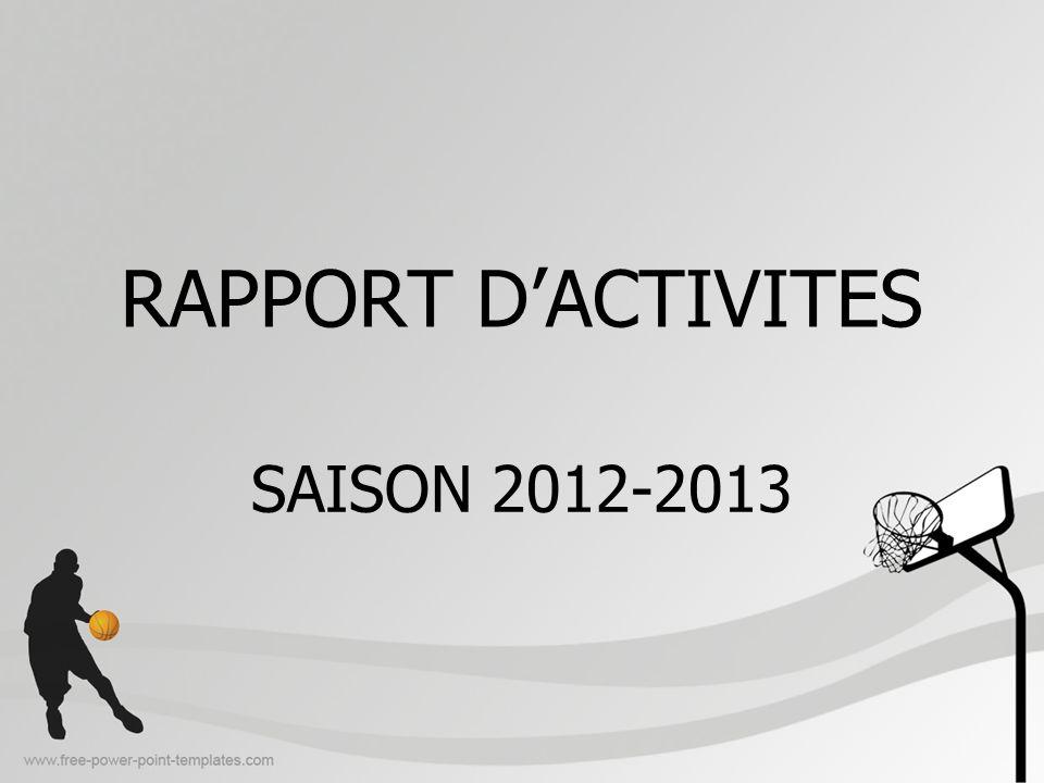 RAPPORT DACTIVITES SAISON 2012-2013