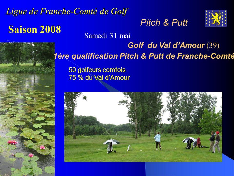 Ligue de Franche-Comté de Golf Pitch & Putt Saison 2008 Samedi 31 mai Golf du Val dAmour (39) 1ère qualification Pitch & Putt de Franche-Comté 50 golf