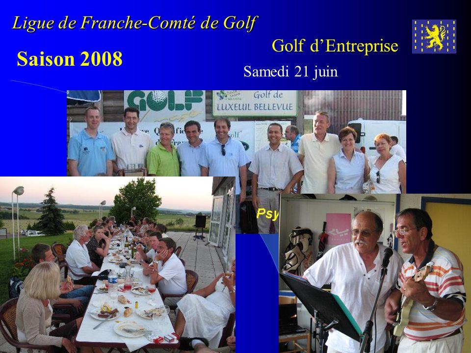 Ligue de Franche-Comté de Golf Golf dEntreprise Saison 2008 Samedi 21 juin Golf de Luxeuil