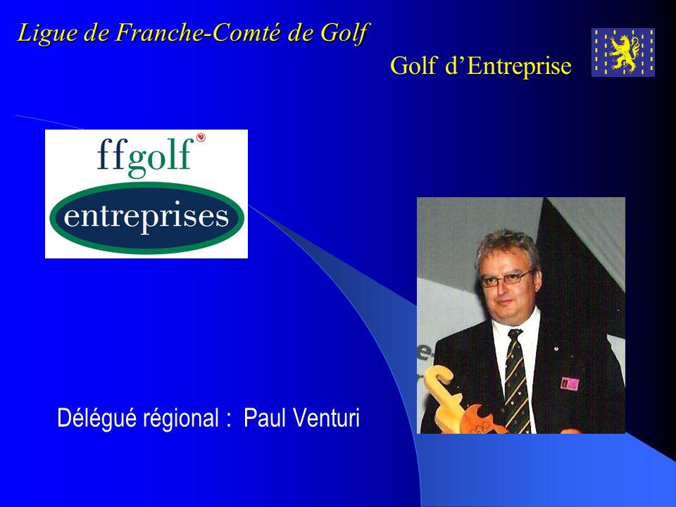 Ligue de Franche-Comté de Golf Golf dEntreprise …et en 2009 Tour 1 : Samedi 18 avril : golf de Bournel Tour 2 : Vendredi 08 mai : golf du Val de Sorne Tour 3 : Samedi 20 Juin : golf de Luxeuil-Bellevue Tour 4 : Samedi 18 juillet : golf de Dole-Parcey Tour 5 : Samedi 29 août : golf de Prunevelle Tour 6 et 7: Samedi 26 et dimanche 27 septembre : golf de Troyes-La Cordelière Tour 8 :Samedi 18 octobre : golf de Besançon Réunion-Combat des Chefs-Soirée de clôture Championnat Régional de Franche-Comté