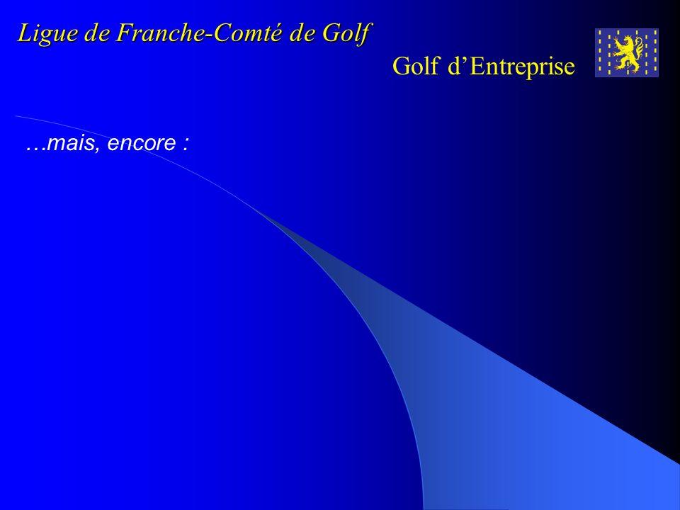 Ligue de Franche-Comté de Golf Golf dEntreprise NOUAILLAS Marie-Christine NOUAILLAS Patrick OLSZAK Franck ONISSE Gr é gory PARATTE Claude PERRAUDIN Al