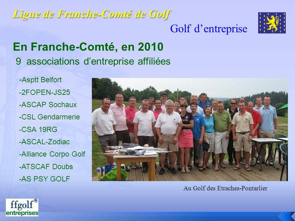 Golf dentreprise En Franche-Comté, en 2010 - Asptt Belfort -2FOPEN-JS25 -ASCAP Sochaux -CSL Gendarmerie -CSA 19RG -ASCAL-Zodiac -Alliance Corpo Golf -