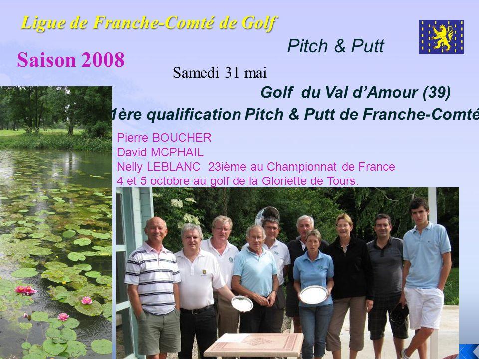 Pitch & Putt Saison 2008 Samedi 31 mai Golf du Val dAmour (39) 1ère qualification Pitch & Putt de Franche-Comté Pierre BOUCHER David MCPHAIL Nelly LEB