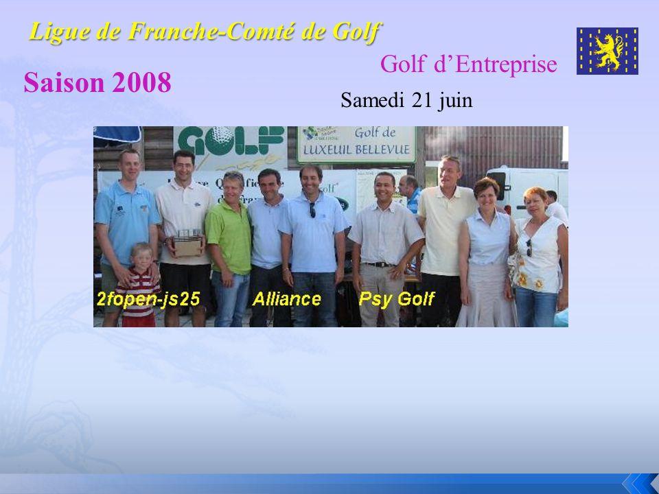 Golf dEntreprise Saison 2008 Samedi 21 juin Golf de Luxeuil