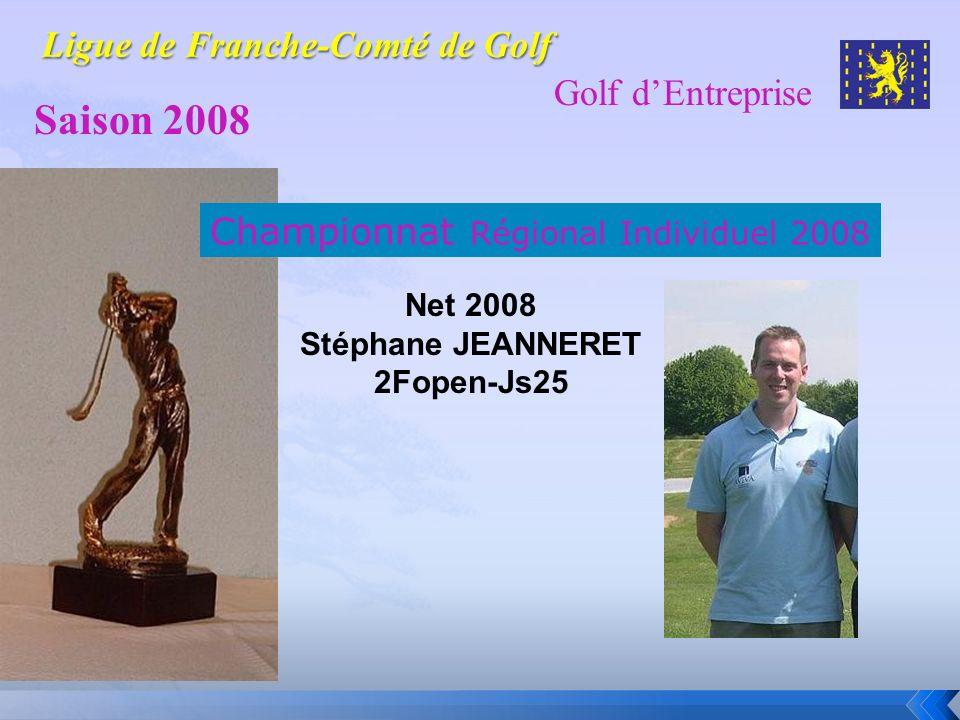 Golf dEntreprise Saison 2008 Championnat Régional Individuel 2008 Net 2008 Stéphane JEANNERET 2Fopen-Js25