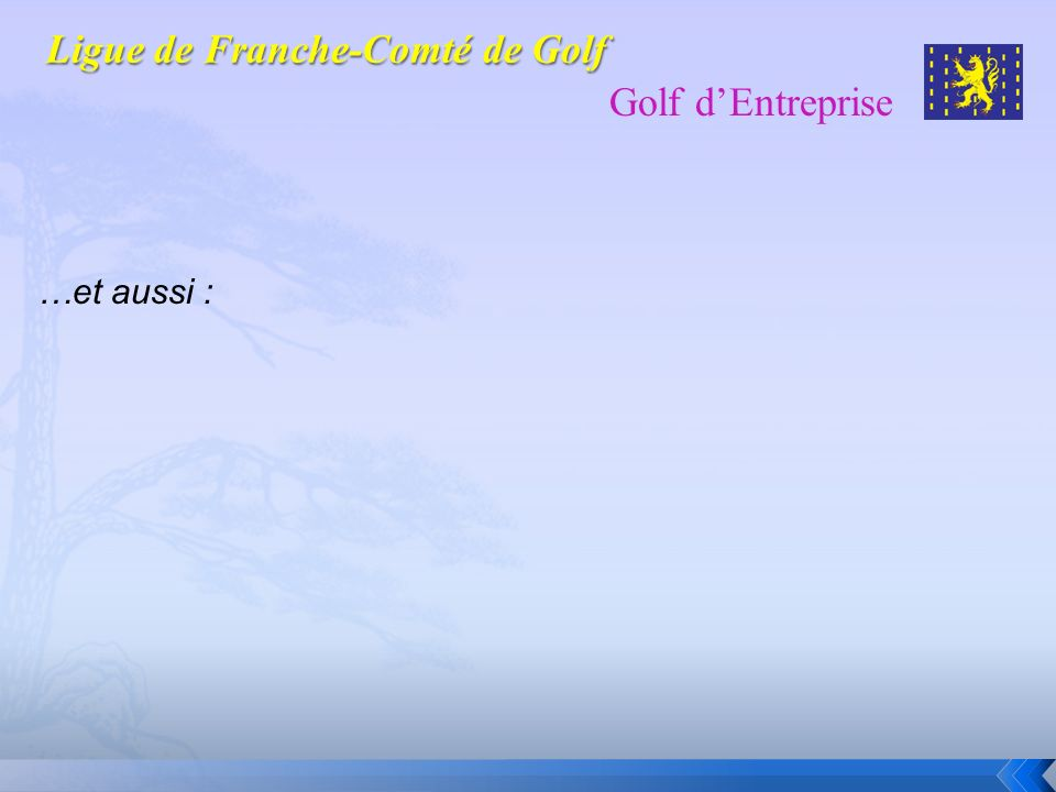 Golf dEntreprise GARRAUD Eliane GARRAUD Jean-Pierre GOTTI Patrick GRILLON Damien GUENAT Jean-Michel HERMANN Philippe HILTBRUNNER Pierre HUMBLOT Didier