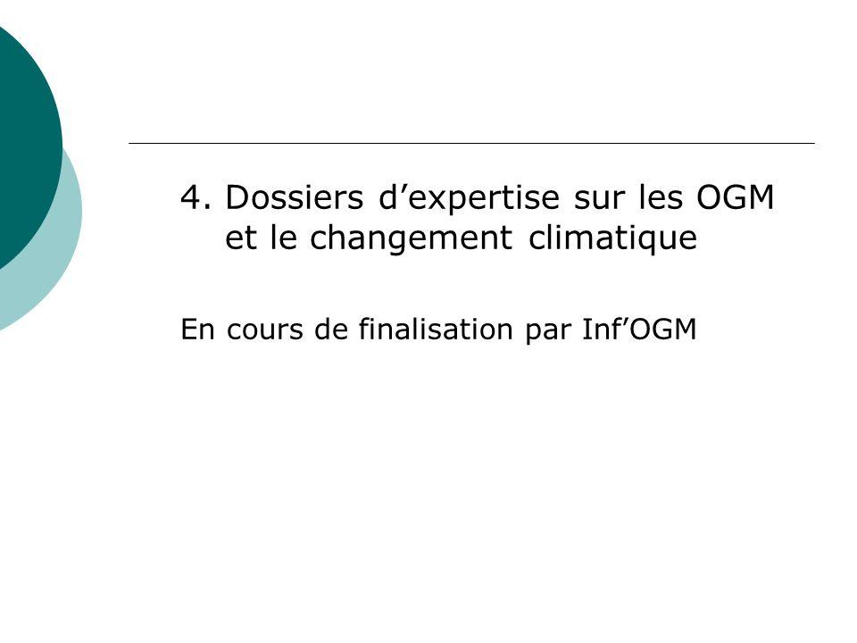 II.Diffusion dinformation sur les OGM 1.