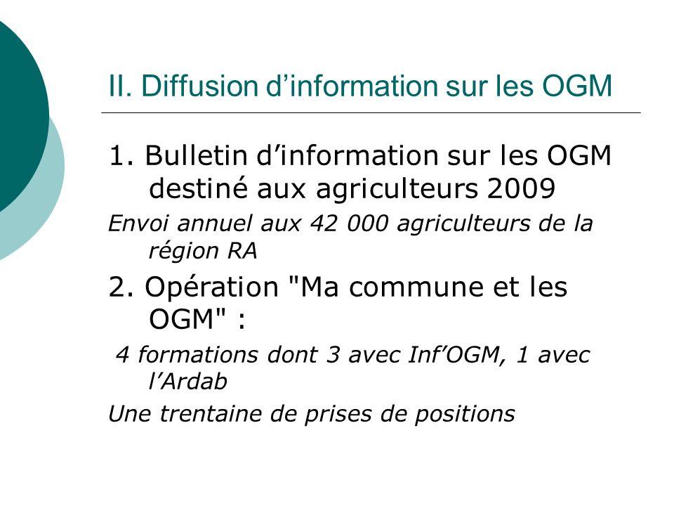 II. Diffusion dinformation sur les OGM 1.